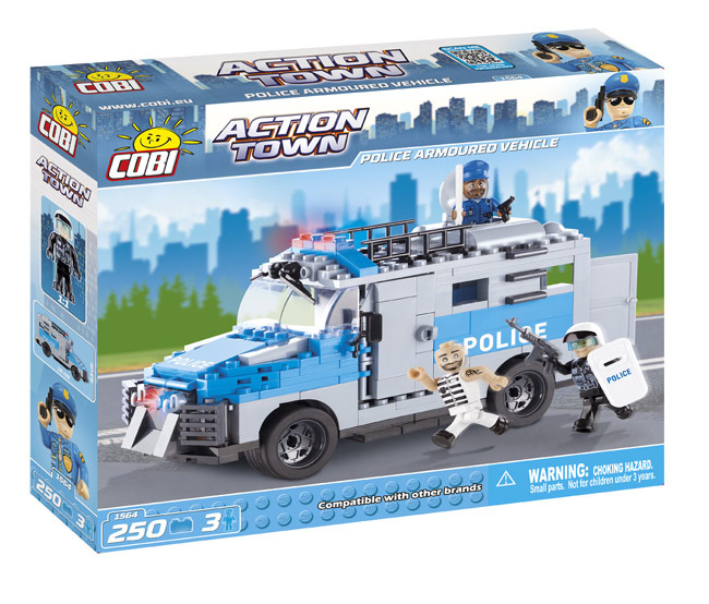 COBI - POLICE ARMOURED VEHICLE 250 + 3 FIG