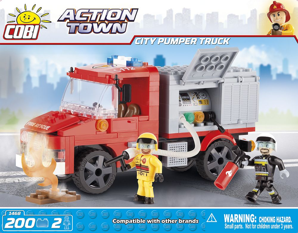COBI - CITY PUMPER TRUCK 200 + 2 FIG